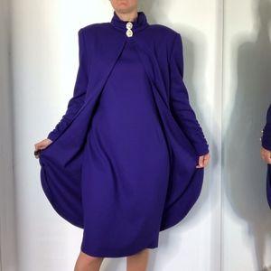 Vintage Purple Pierre Balmain Evening Dress